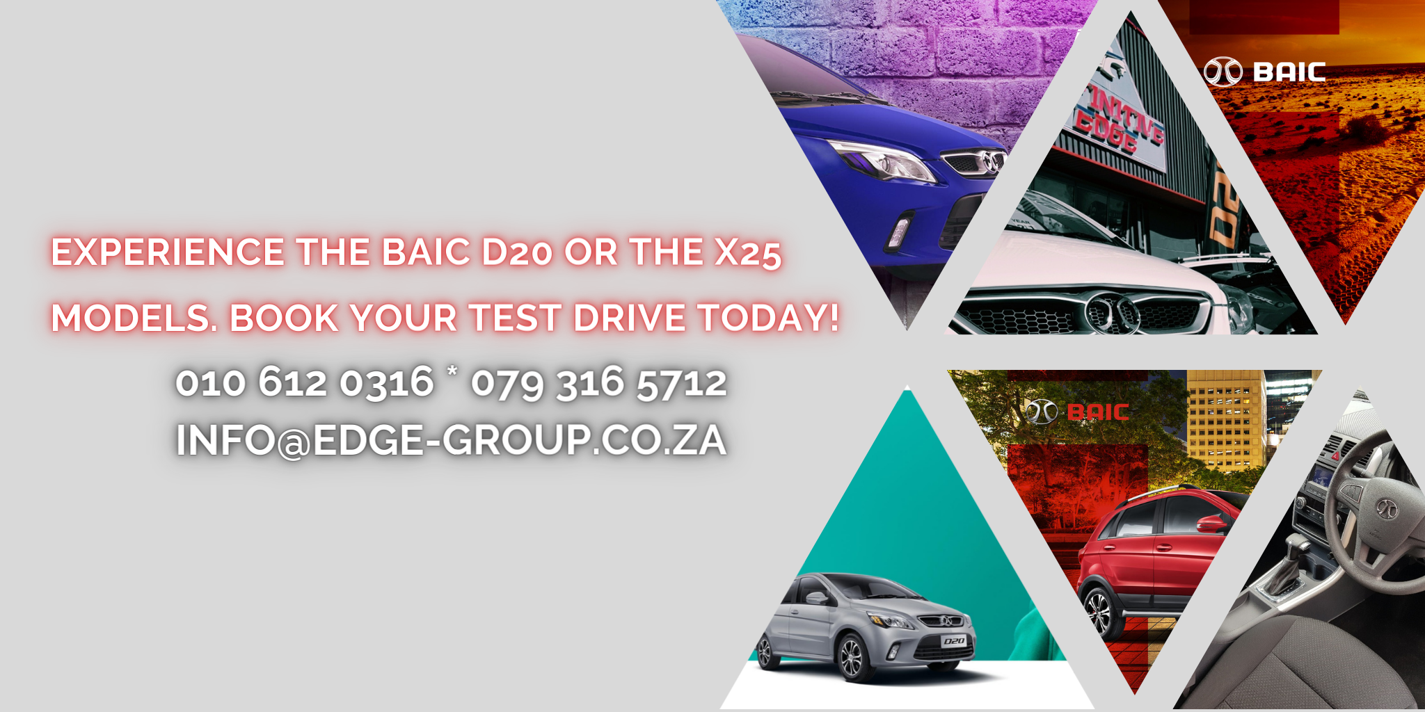 Copy of EXPERIENCE THE BAIC D20 OR THE X25 MODELS. BOOK YOUR TEST DRIVE TODAY!